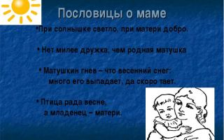 Пословицы о маме, семье и родителях