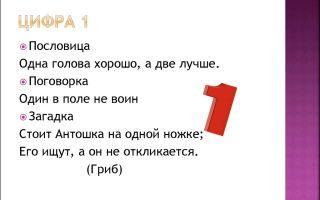 Пословицы про цифру 1 с картинками